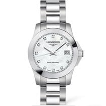 Longines Conquest Quartz Ladies 29.5mm Mother of Pearl Dial T