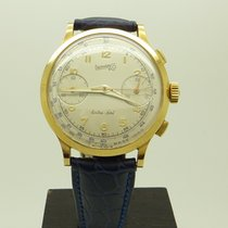 Eberhard & Co. Rare Vintage 18K Gold Extra Fort Chronograp...