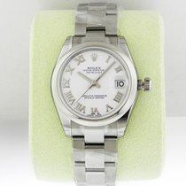 Rolex Datejust 31mm Steel White Roman Dial