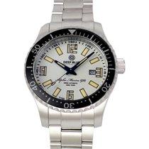 Deep Blue Alpha Marine 500 Watch T100 Swiss Auto 500m Wr White...