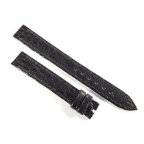 Chopard 13mm / 12mm shiny black alligator leather strap NEW