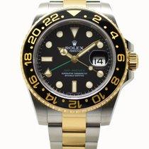 Rolex GMT-Master II 18ct Gold & Steel 40mm Black Dial 2009
