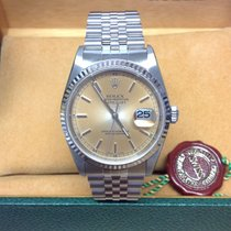 Rolex Date just 16234 -  36mm Silver 'Tropical' Dial