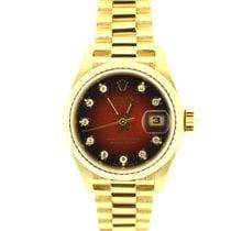 Rolex Lady DateJust President rare Red Vignette diamond dial
