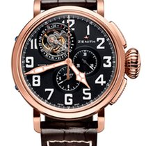 Zenith Pilot Montre d'Aeronef Type 20 Tourbillon 18k Rose...