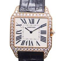 Cartier Santos 18 K Rose Gold With Diamonds Silvery White...