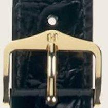 Hirsch Uhrenarmband Leder Crocograin schwarz M 12302850-1-18 18mm