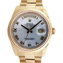 Rolex Day-Date 36 118238-MOPRRP White Mother of Pearl Roman...