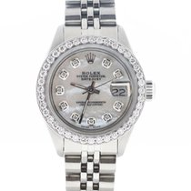 Rolex Datejust Ladies 26MM Jubilee Steel Watch MOP Diamond Dial