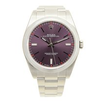 Rolex Oyster Perpetual Stainless Steel Purple Automatic...