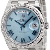 Ρολεξ (Rolex) Rolex Day-Date 40 Platinum Ice Blue/Roman...