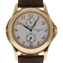 Patek Philippe Calatrava Travel Time 5134R Rose Gold Paper/2Yr...