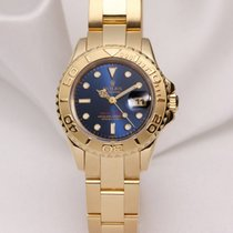 Rolex Lady Yacht-Master 69628 Blue 18K Yellow Gold
