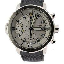 IWC IW376801 Aquatimer Chronograph Steel Silver Dial Rubber