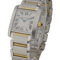 Cartier W51006Q4 Tank Francaise 2-Tone Mid-Size No Date -...