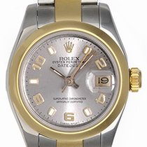 Rolex Ladies Rolex 2-Tone Datejust Watch 179163 Silver Dial