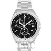 Hamilton Khaki Aviation Pilot Pioneer Chrono Quartz Black...