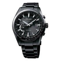 Seiko Astron Solar GPS Black PVD Titanium Men's Watch SSE089