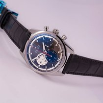 Zenith Chronomaster El Primero 42 Grey Dial on Alligator