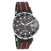 Tissot T-Race Mens Black/Red Swiss Quarts Watch T092.417.27.20...