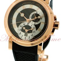 Breguet Marine Automatic Dual Time, Black-Silver Dial - Rose...