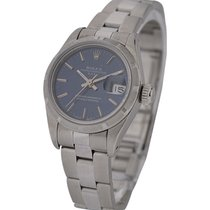 Rolex Used 69190_used_oyst_blue_stk Ladys Date with Finely...