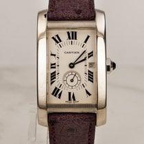 Cartier Tank Americane / 18 kt Weissgold / Unisex Size
