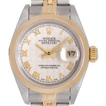 Rolex Ladies Rolex Datejust 2-Tone Watch 79163 Ivory Pyramid Dial