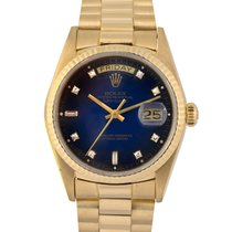 Rolex 18k Day-Date Diamond Blue Degrade Dial, Ref: 18038