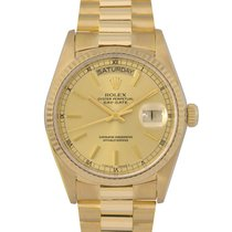 Rolex 18k Day-Date Champagne Dial Ref: 18038