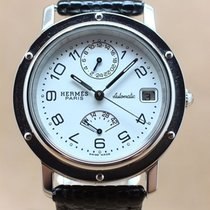 Hermès Clippers Power reserve and GMT Automatic, marked white...