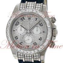 Rolex Cosmograpph Daytona, Pave Diamond Dial, Baguette Bezel...