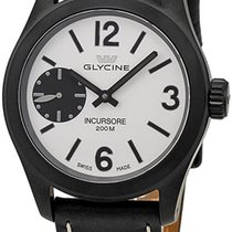 Glycine Incursore Manual Wind Black PVD Steel Mens Swiss Watch...