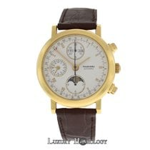 Tourneau Mens T90.008 Chronograph Moonphase Triple Date  18K Gold
