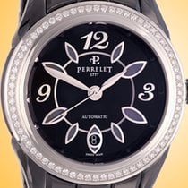 Perrelet Classic Eve Ceramic / Diamonds Ladies Watch A2041/BA