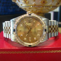 Rolex Oyster Perpetual Datejust Diamonds Two Tone Yellow Gold...
