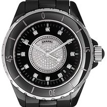 Chanel J12 Black Ceramic Automatic Midsize Unisex Watch H1757
