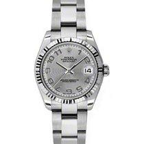 Rolex Datejust Ladies Midsize 178274-SLVCAO Silver Concentric...