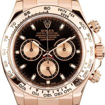 Rolex Cosmograph Daytona Rose Gold Black Pink Dial