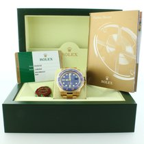Rolex 116618LB 18k Gold Blue Dial Submariner
