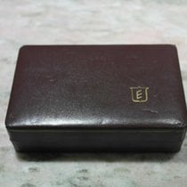 Eberhard & Co. vintage brown leather watch box  gold logo...