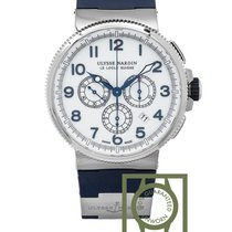 Ulysse Nardin Marine Chronograph 43mm White Dial NEW