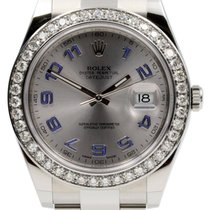Rolex Datejust II 116300 Men's 41mm Custom Diamond Bezel...