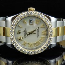 Rolex Mens 41 MM 116333 Rolex Date Just II Two Tone Diamond...