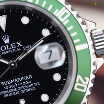 Rolex Men's Submariner Date Green Bezel 50th Anniversary...