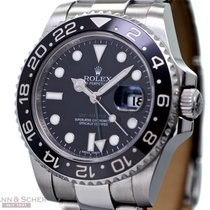 Rolex GMT Master II Ref-116710LN Stainless Steel Papers Bj-2008