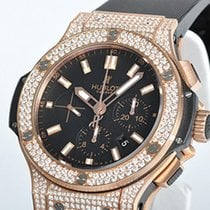 Hublot Big Bang Gold Dial Black White Diamonds Men's...