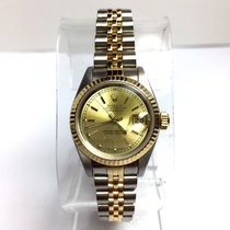 Rolex Oyster Perpetual Datejust 2 Tone 18k Yellow Gold &...