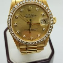 Rolex Datejust 18k 1.25ct Presidential Mid-size With Diamond...