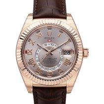 Rolex Unworn 326135 SUNDUST ROM Sky Dweller 42mm in Rose Gold...
